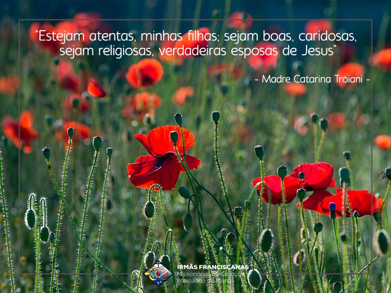 """""""Estejam atentas, minhas filhas; sejam boas, caridosas, sejam religiosas, verdadeiras esposas de Jesus"""""""