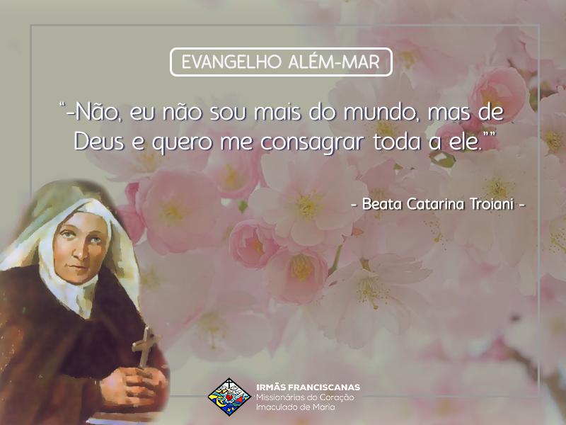 """""""Não, eu não sou mais do mundo, mas de Deus e quero me consagrar toda a ele."""""""